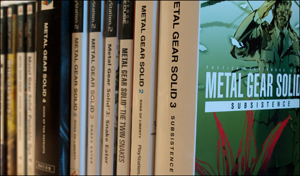 Row of MGS Games