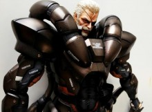 Play Arts Solidus Snake Figure Statue Painted Close Face