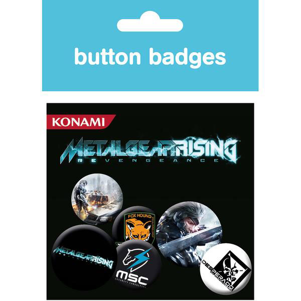 Metal-Gear-Rising-Button-Badges