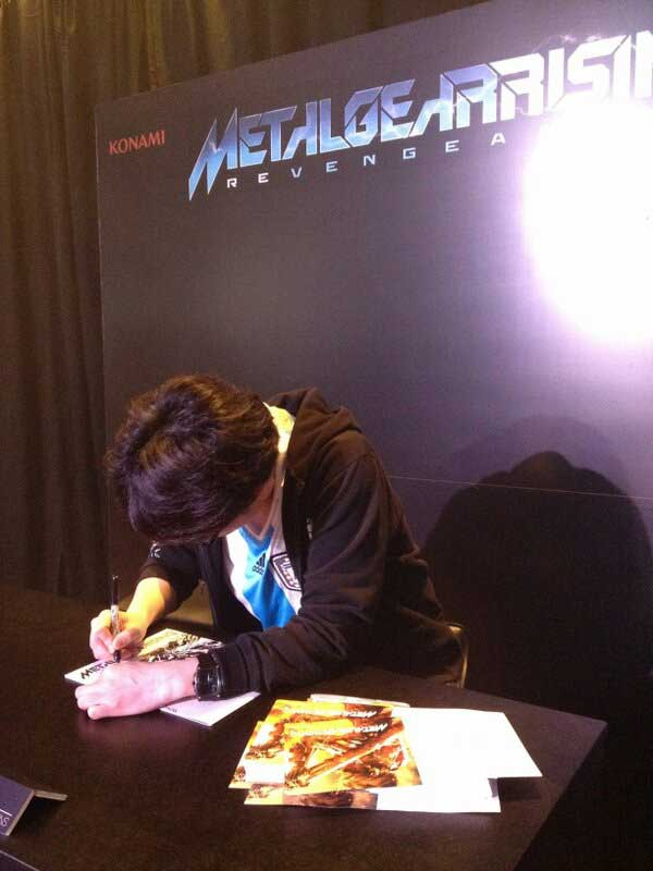 Metal-Gear-Rising-World-Tour-Korekado-Signing