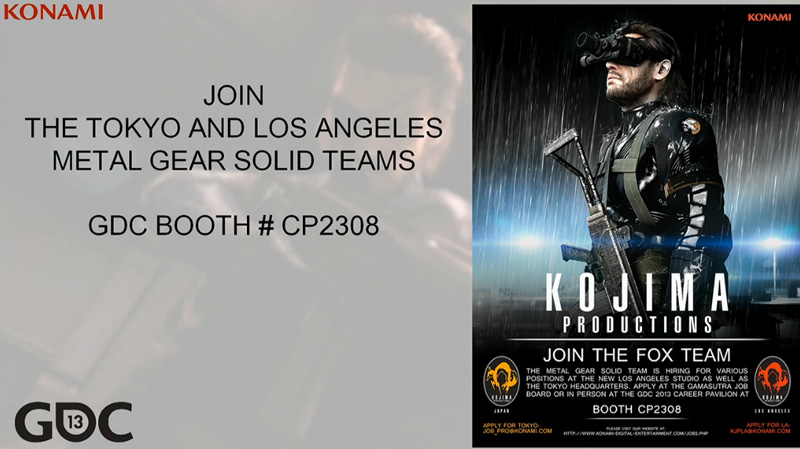 Kojima-Productions-Recruiting-GDC-2013