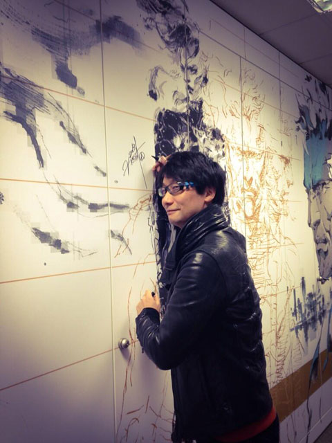 Hideo-Kojima-Signing-Wall-at-Konami-Europe