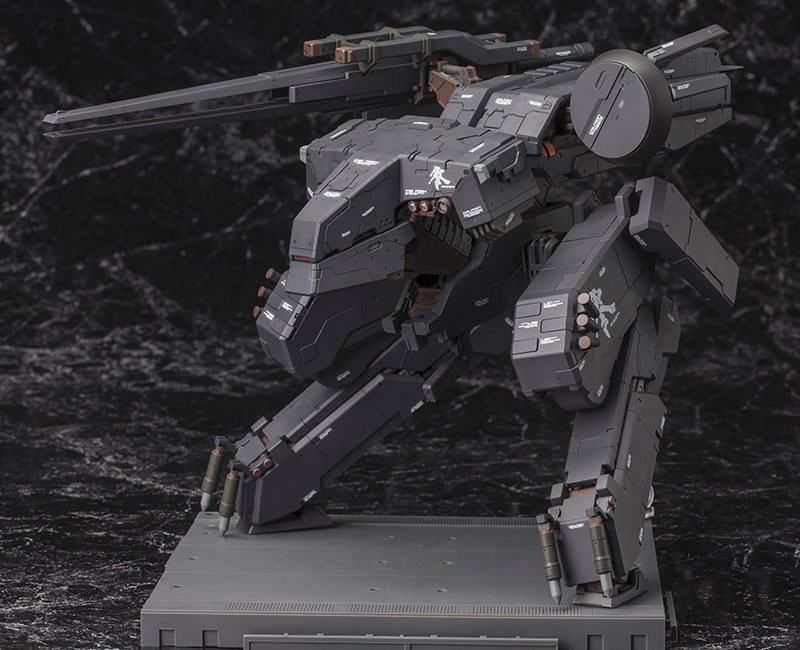 Metal-Gear-Rex-Black-Version-Kotobukiya-On-Pedestal