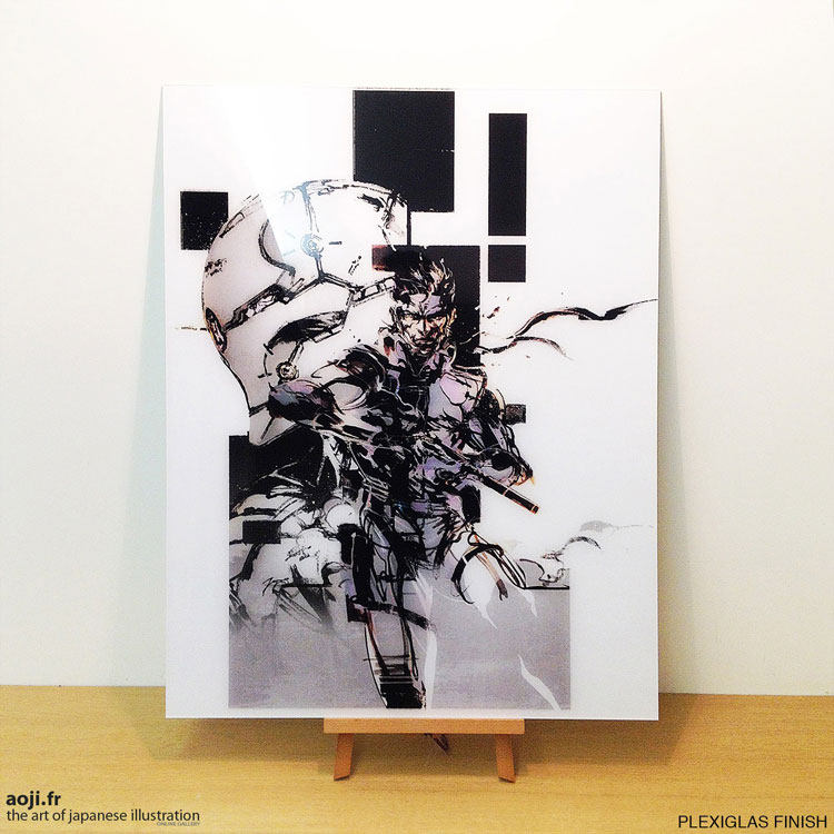 MGS-Yoji-Shinkawa-Artwork-Plexiglas-Snake-Gray-Fox