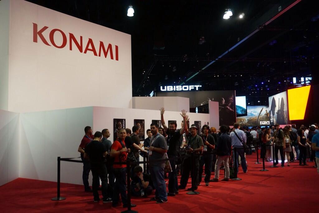 Kojima-E3-2014-Konami-Booth-Line