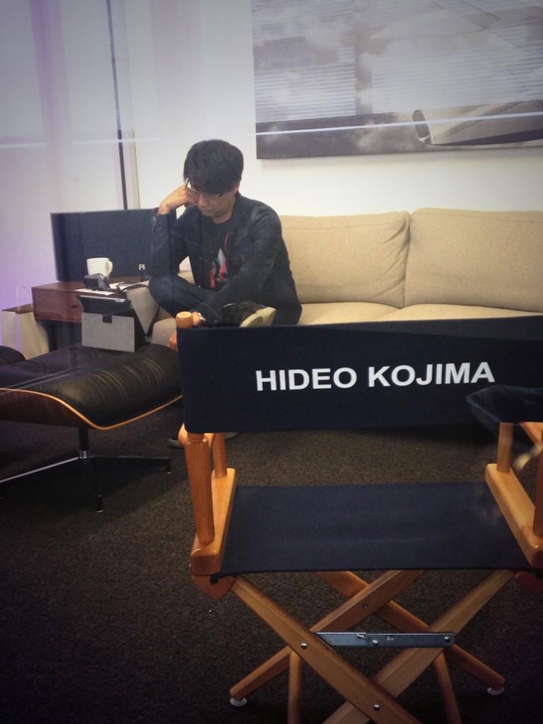 Kojima-visits-LA-Studio-2014