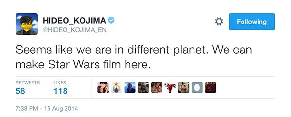 Kojima-Tweet-Iceland-Different-Planet