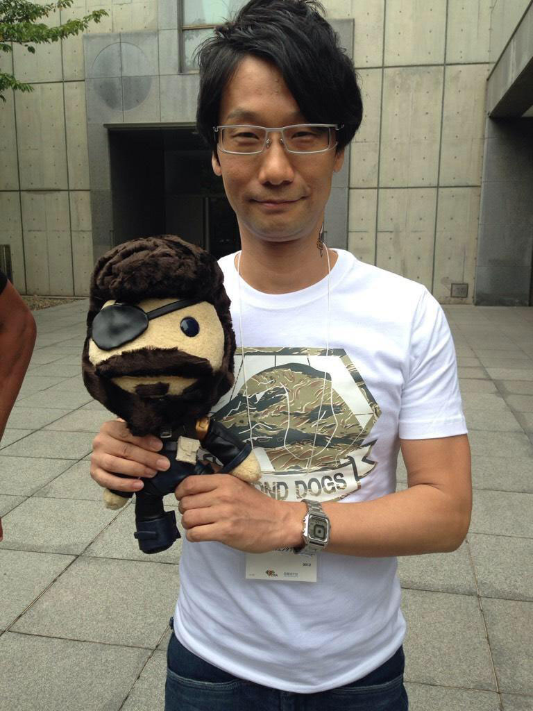 Hideo-Kojima-with-Snake-Sackboy-Plush