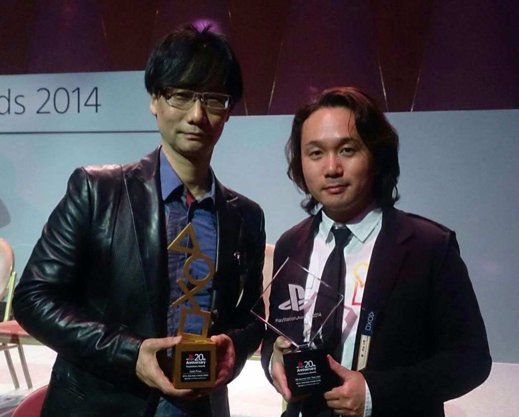 Hideo-Kojima-and-Yoji-Shinkawa-PlayStation-Awards-2014