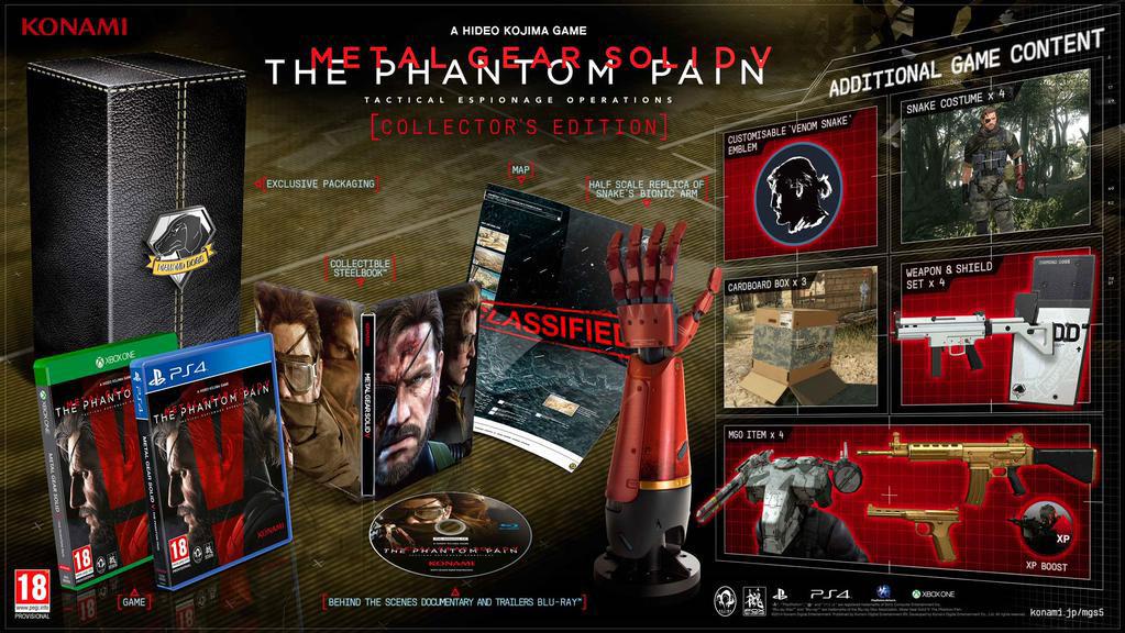 Metal gear solid 5 phantom pain collectors edition ps4 uk pal   ebay.