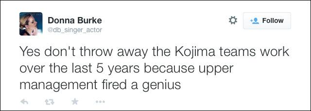Donna-Burke-Tweet-Kojima-Fired