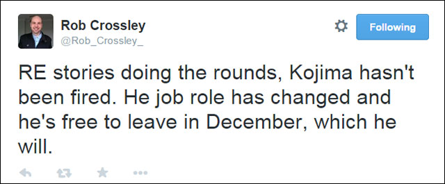 Rob-Crossley-Tweet-Kojima-Fired