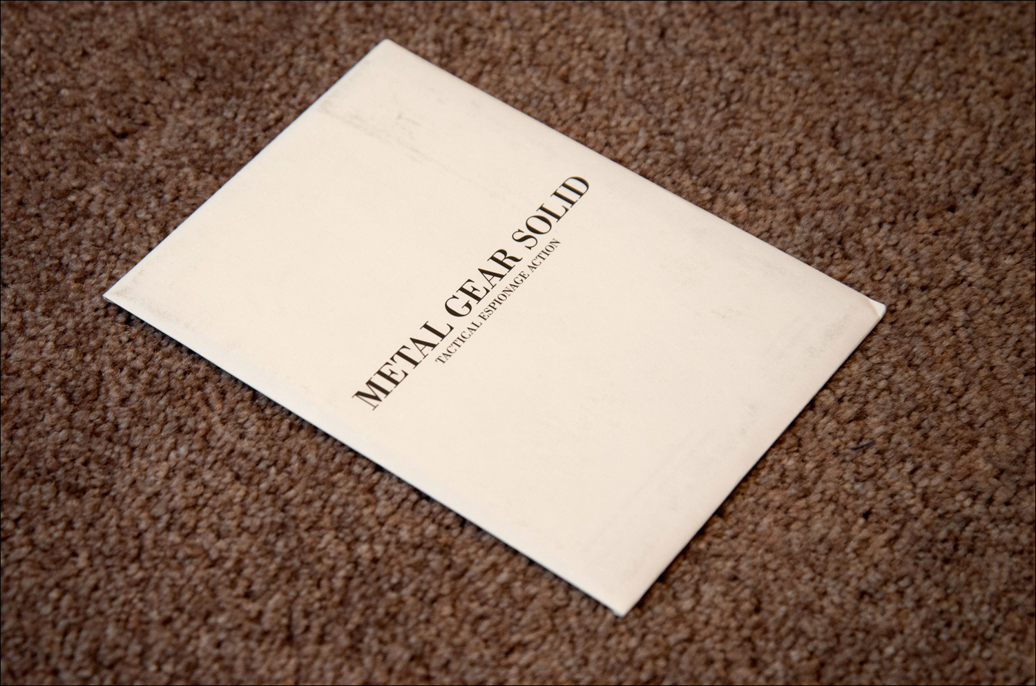 Metal-Gear-Solid-Premium-Package-Postcards-Envelope