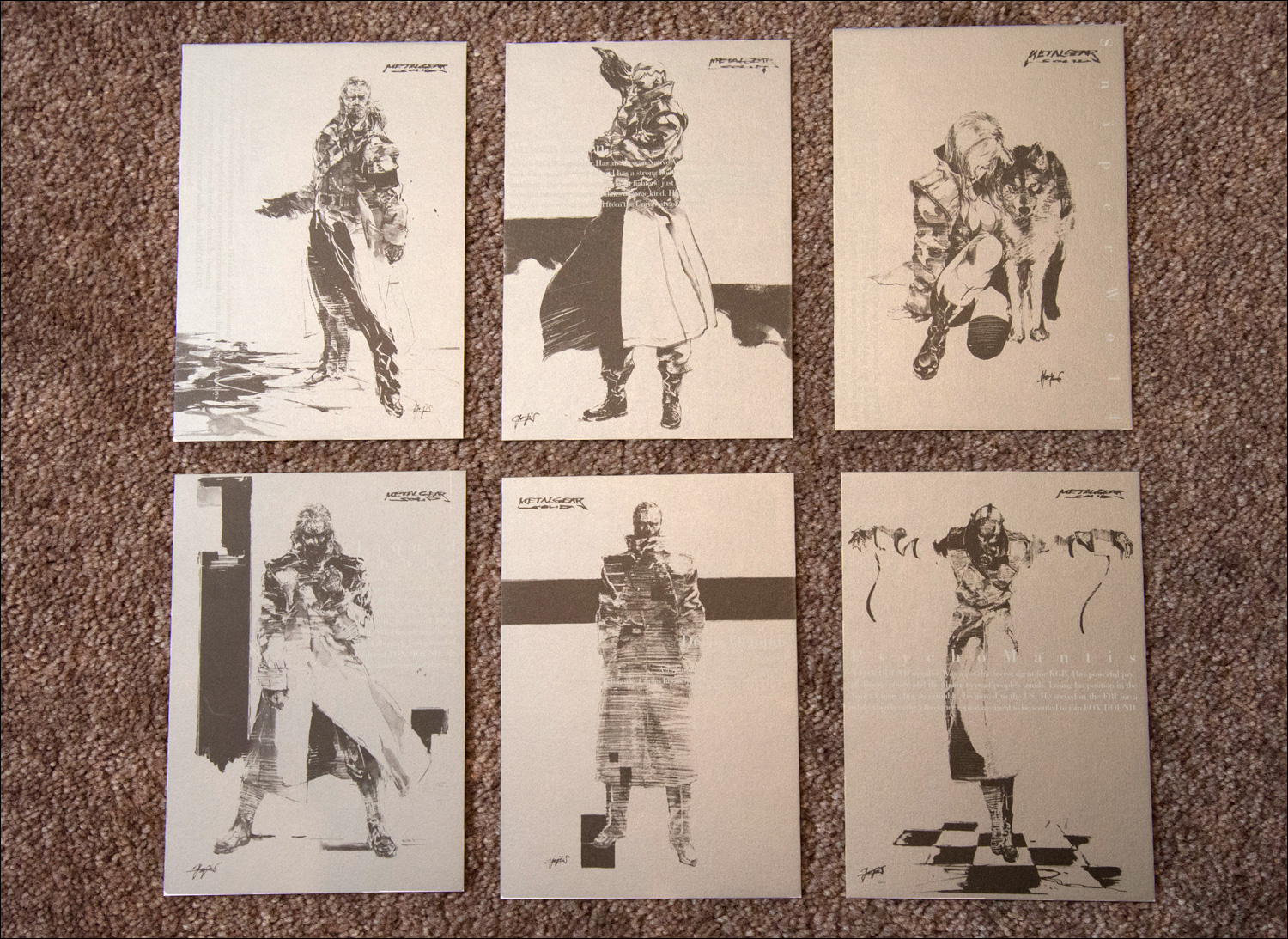 Metal-Gear-Solid-Premium-Package-Postcards