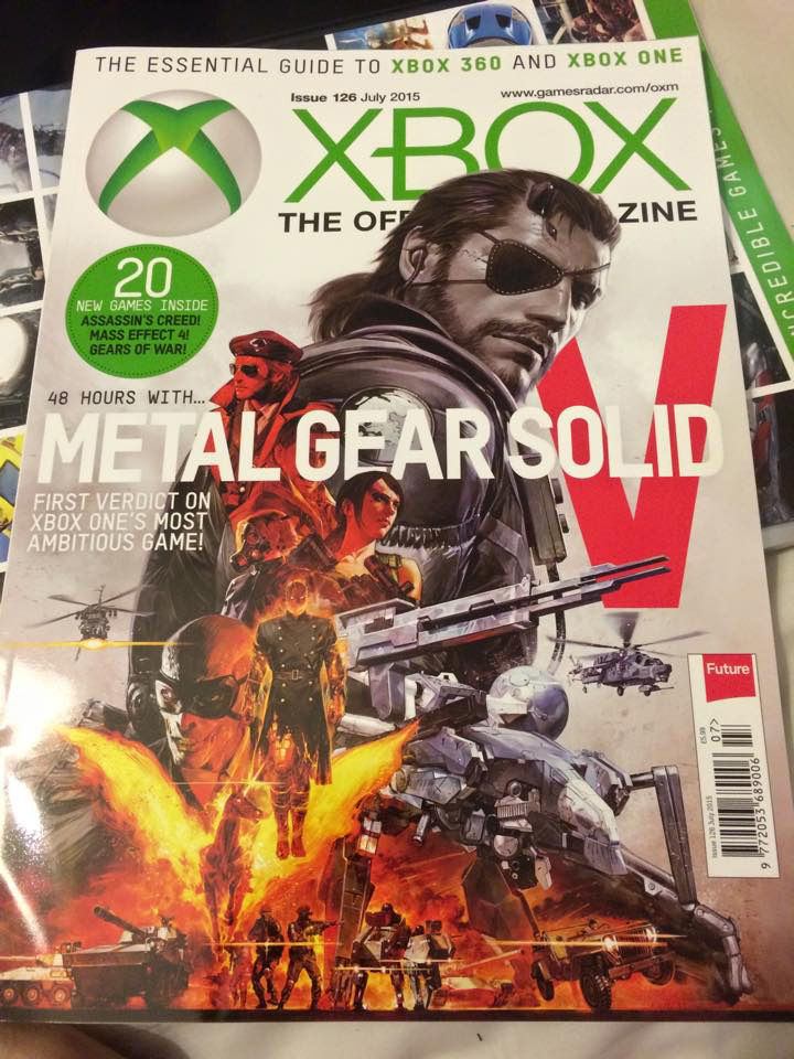 Metal Gear Solid V: The Phantom Pain magazine covers