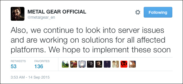 MGSV-Server-Issues