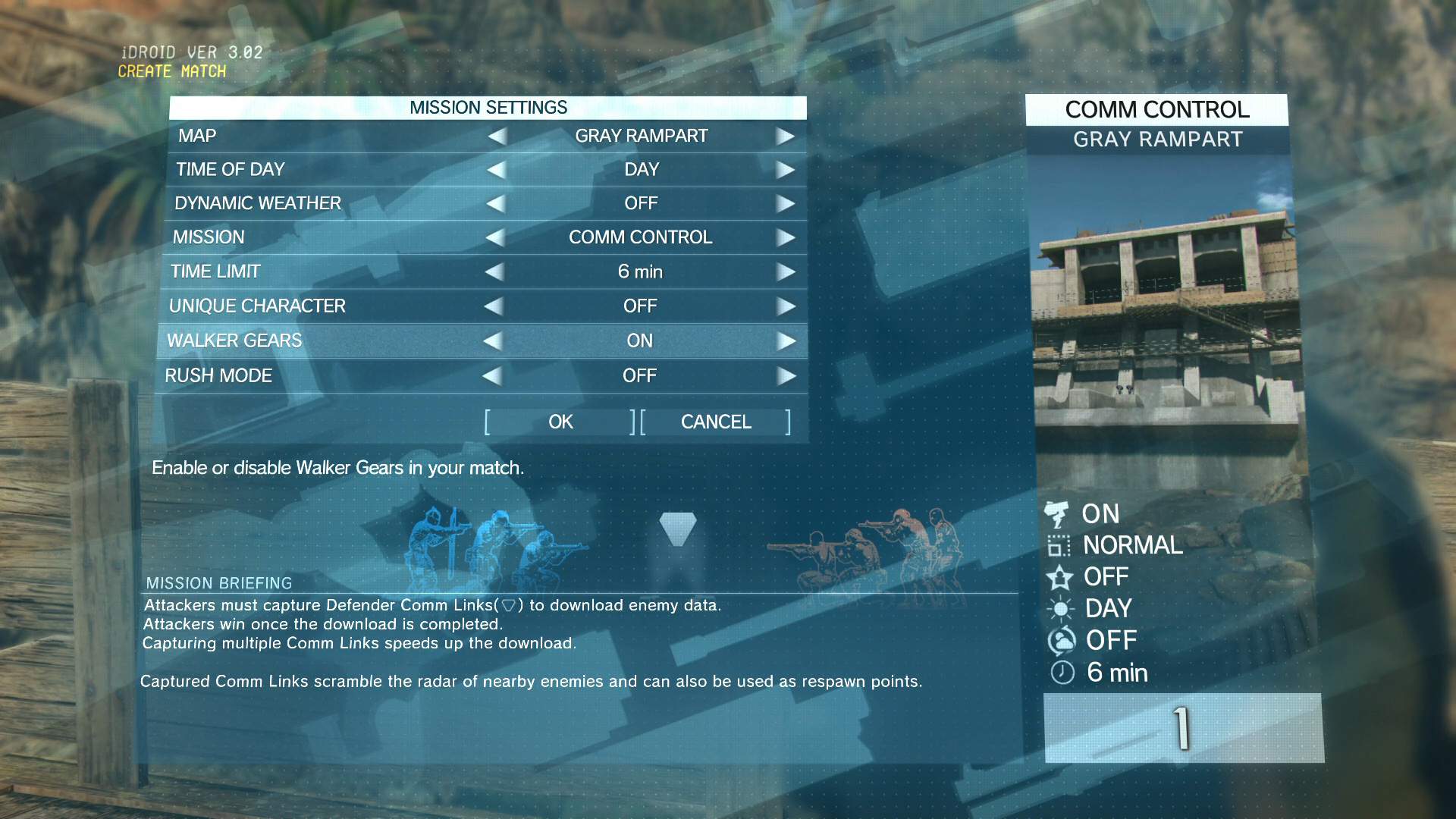 Metal-Gear-Online-Settings-Walker-Gears