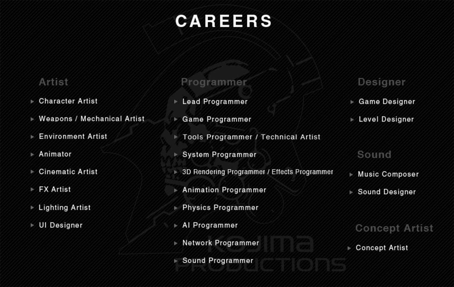 Kojima-Productions-2016-Careers