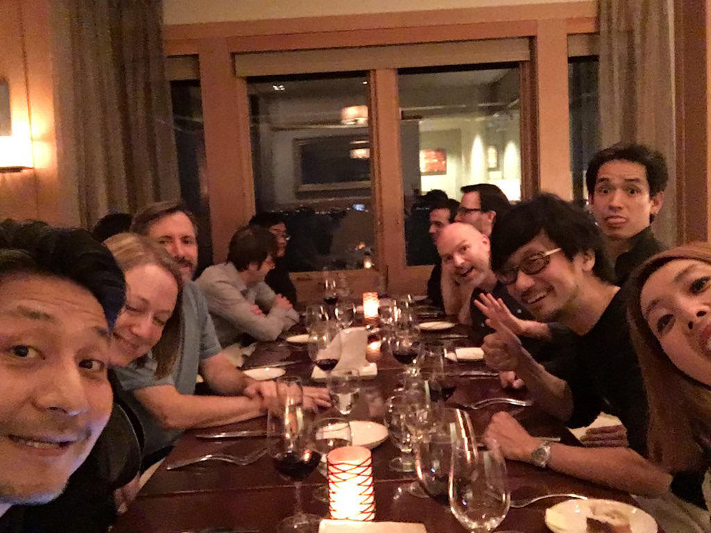 """Dinner with team Sucker Punch! Having fun! I love them!!!"" - Ken"