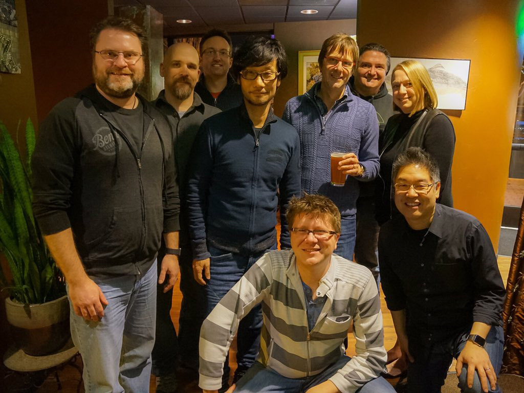 """With people from BEND STUDIO. Thank you very much."" - Hideo Kojima"