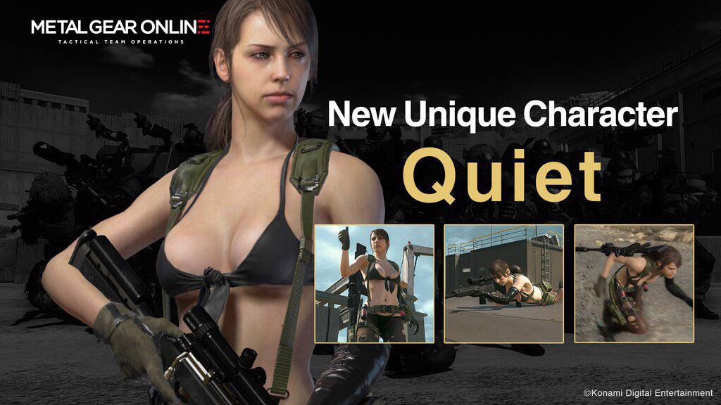 """The new DLC also features a brand new unique playable MGO character: Tixij, assassin, mercenary, Quiet"""
