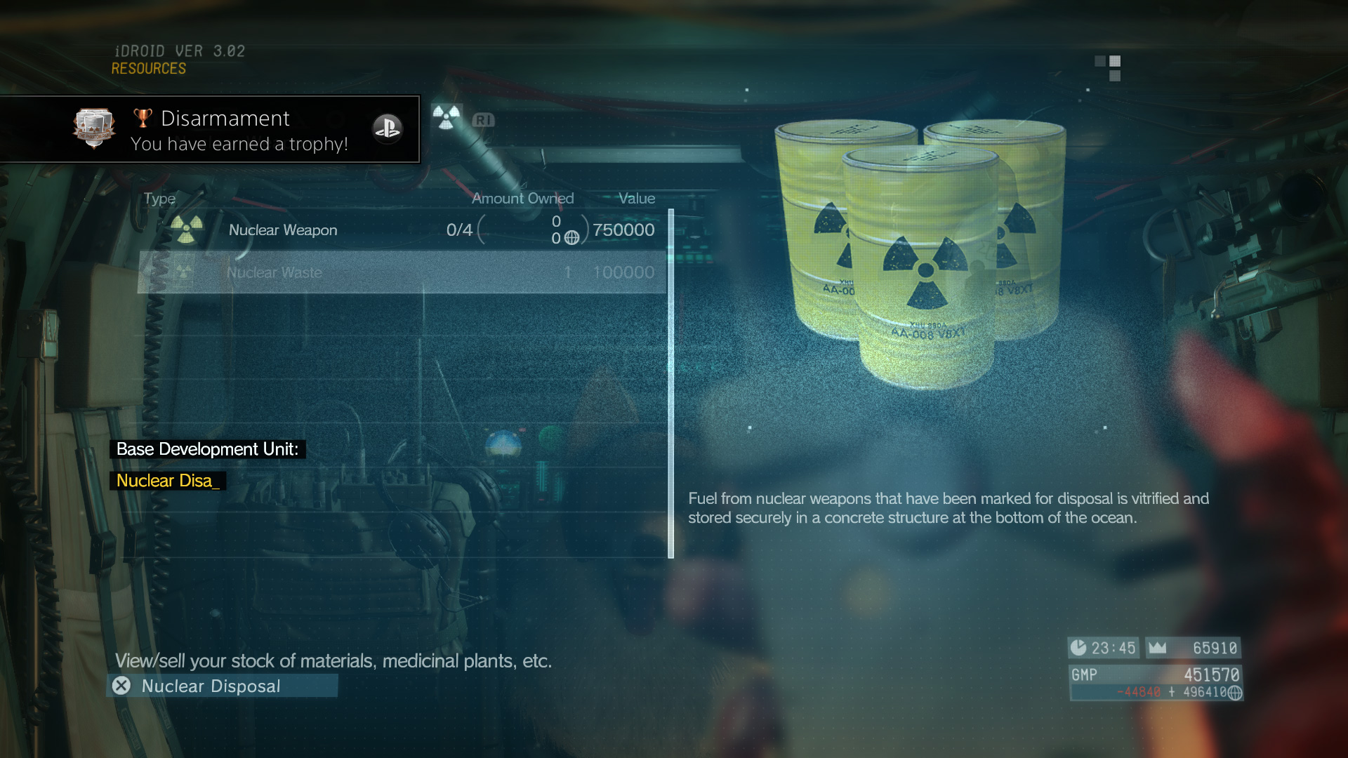 MGSV-TPP-Trophy-Disarmament