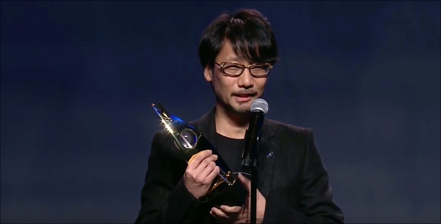 Kojima-accepts-Hall-of-Fame-Award
