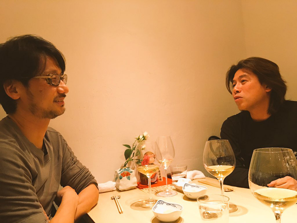 """Hideo Kojima X Tatsuya Minami (Platinum Games) tonight."" - Ayako"