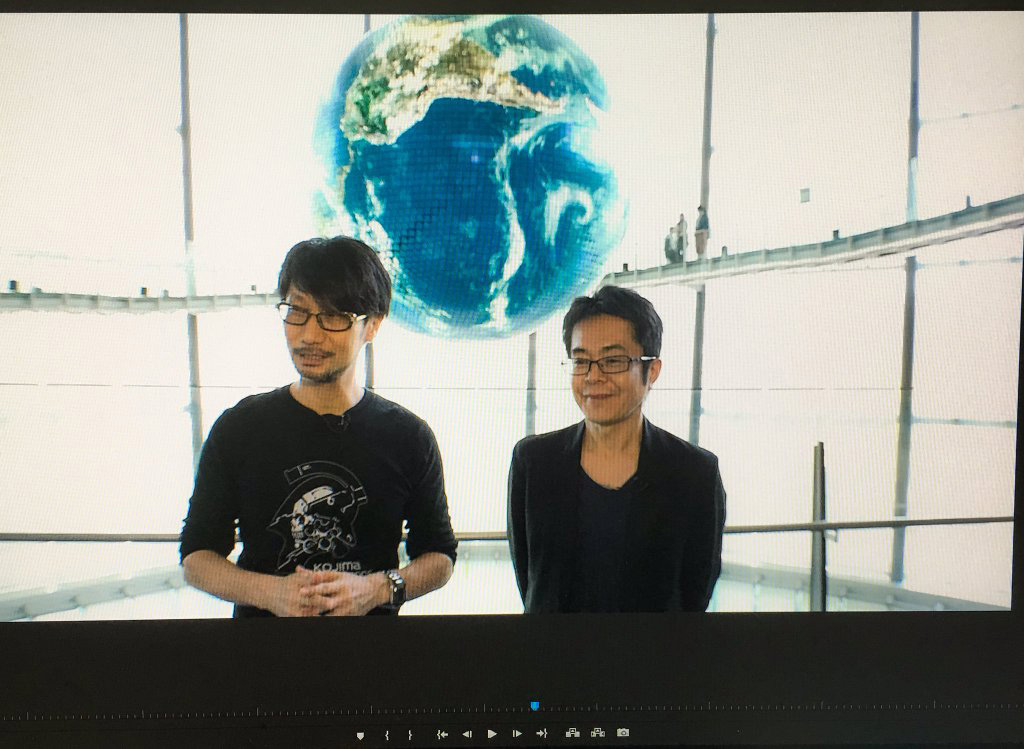 Hideo-Kojima-and-Kenji-Yano-GAME-ON-Exhibition-Shooting