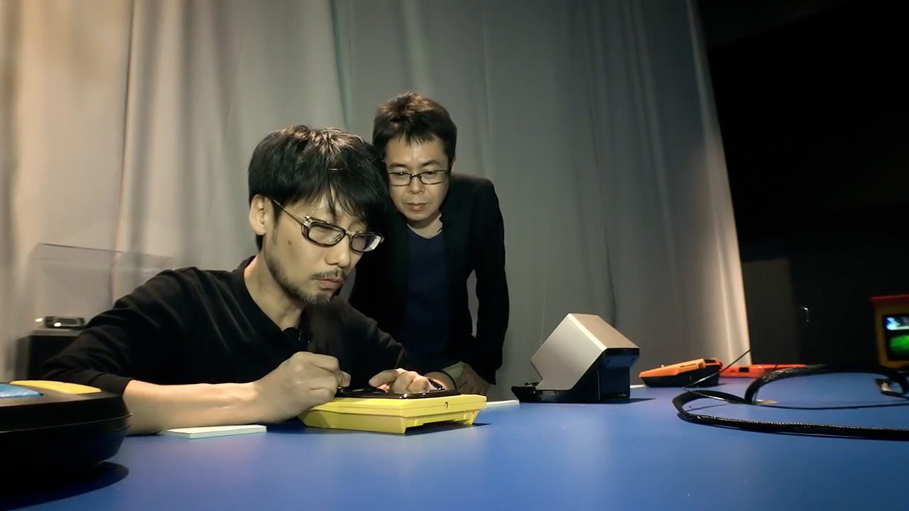 Kojima playing Puck Monster