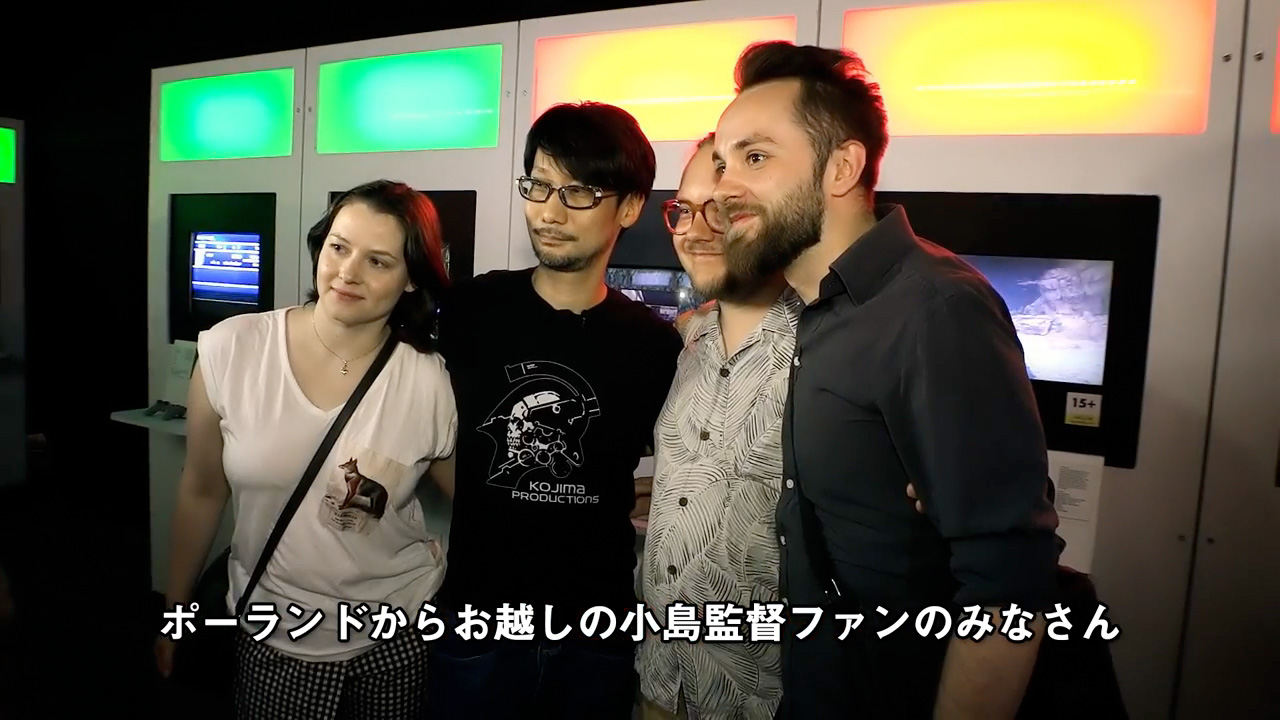 Kojima ran into some Polish fans