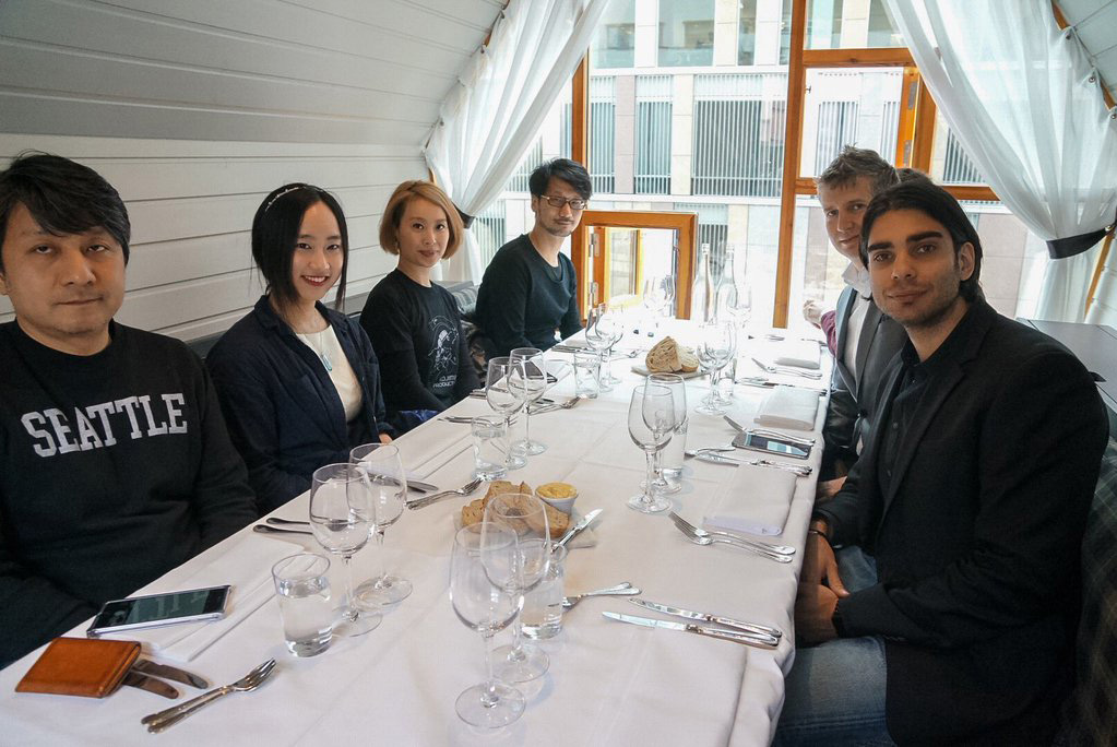 """Had lunch with people from Stockholm based game company, RESOLUTION and SNOWPRINT."""