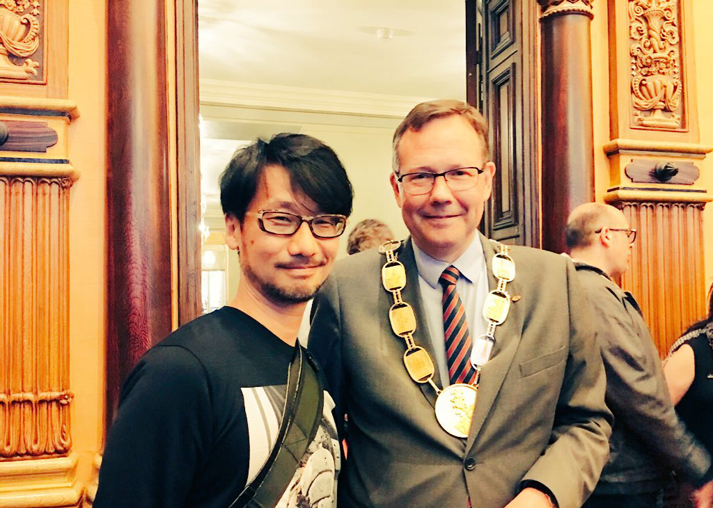"""Hideo Kojima & the mayor of Malmö, Kent Andersson."" - Ayako"