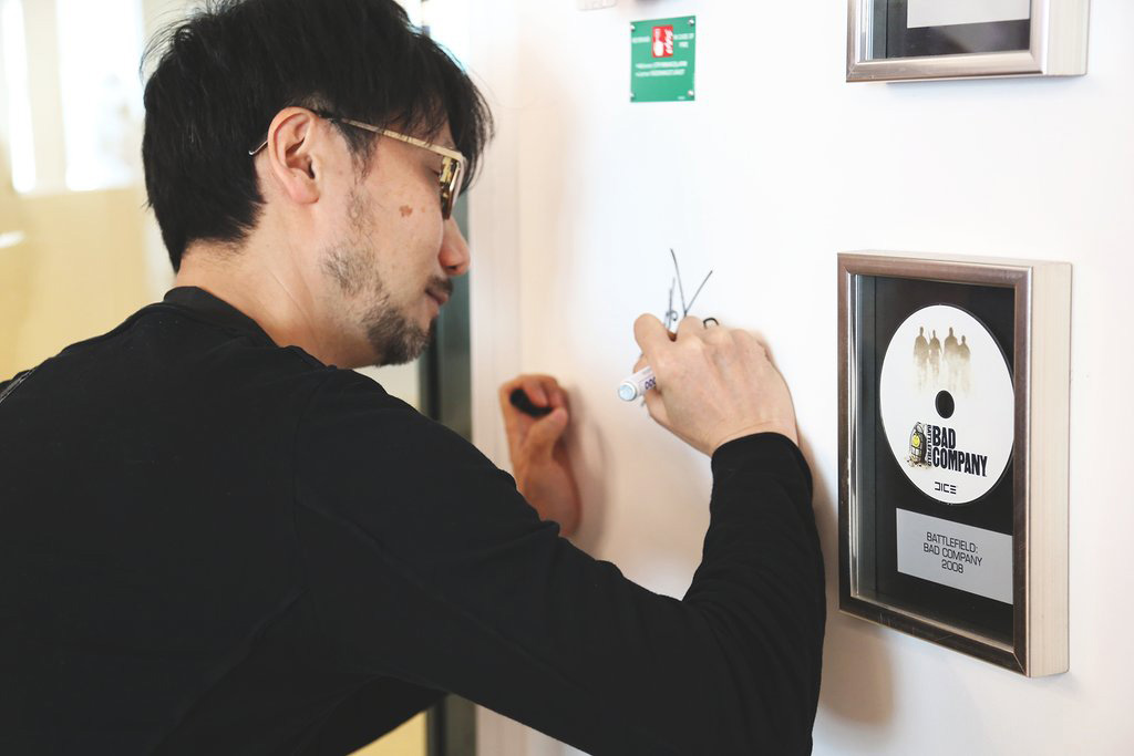 """With a new office comes new traditions. We're honored of Hideo Kojima being the first to sign our wall."""
