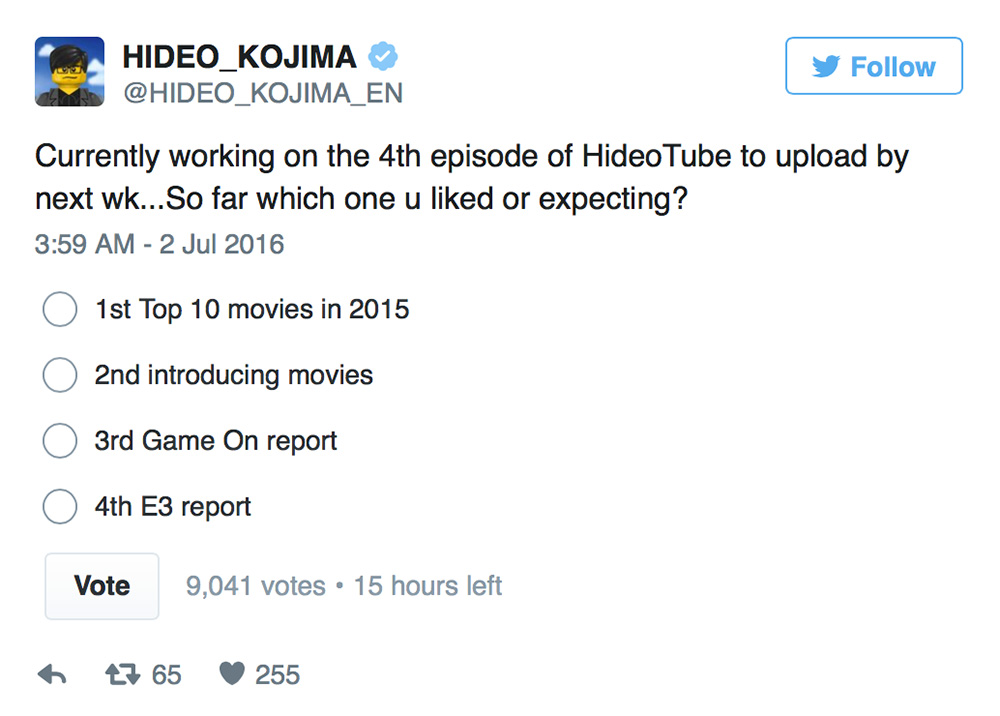 Kojima-HideoTube-1-4-Poll