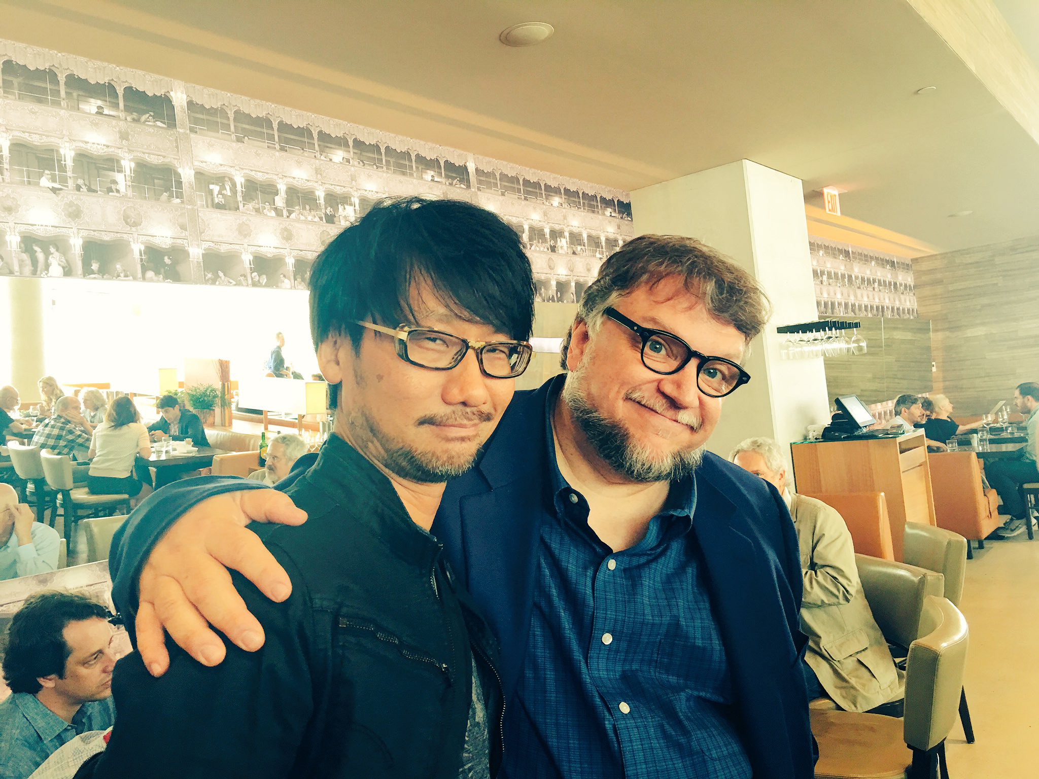 """Sneaked out to greet Guillermo del Toro."" - Ayako"
