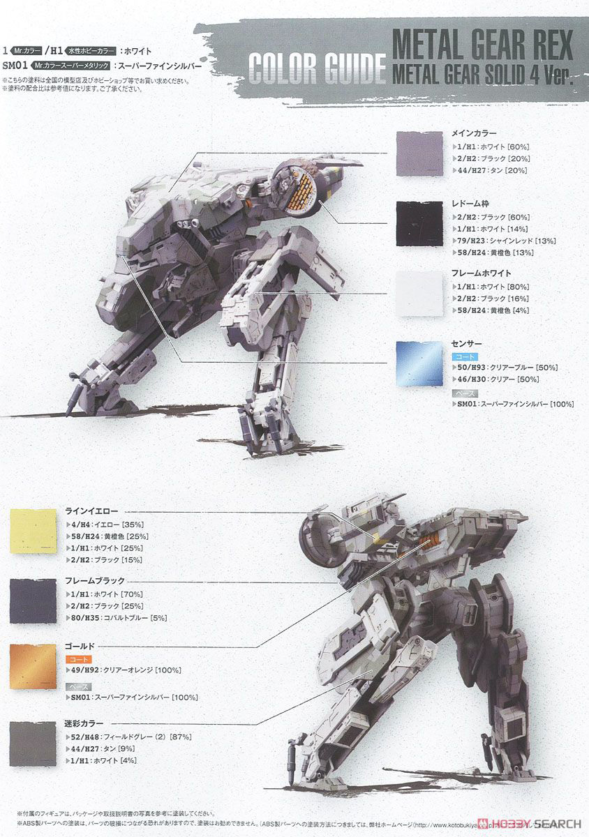 kotobukiya-rex-metal-gear-solid-4-version-color-guide