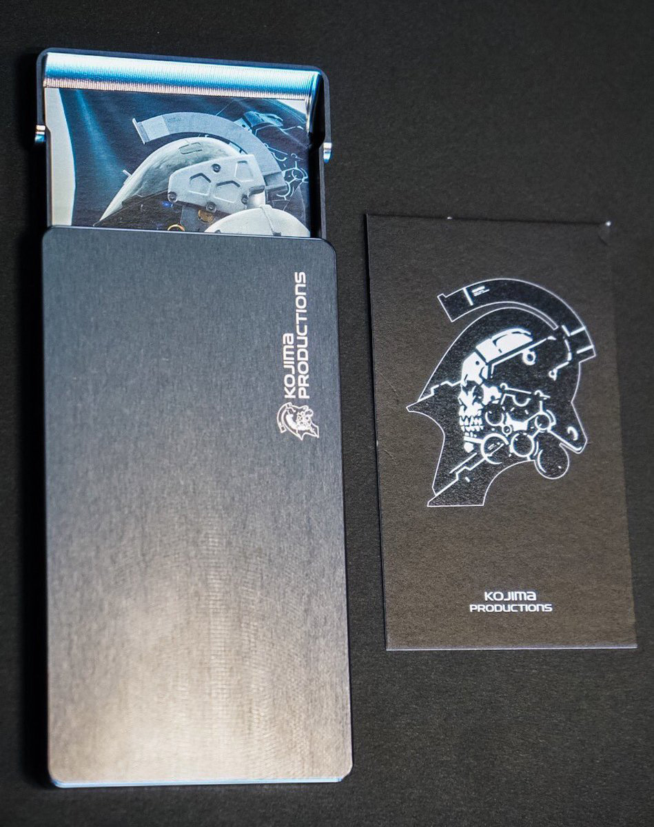 Check out these fancy kojima productions business card holders check out these fancy kojima productions business card holders colourmoves