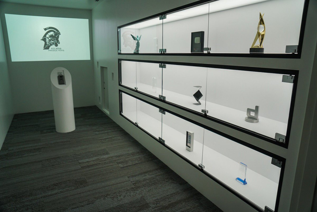 His Latest Awards Are Displayed In A Glass Cabinet At The Entrance Of New Studio