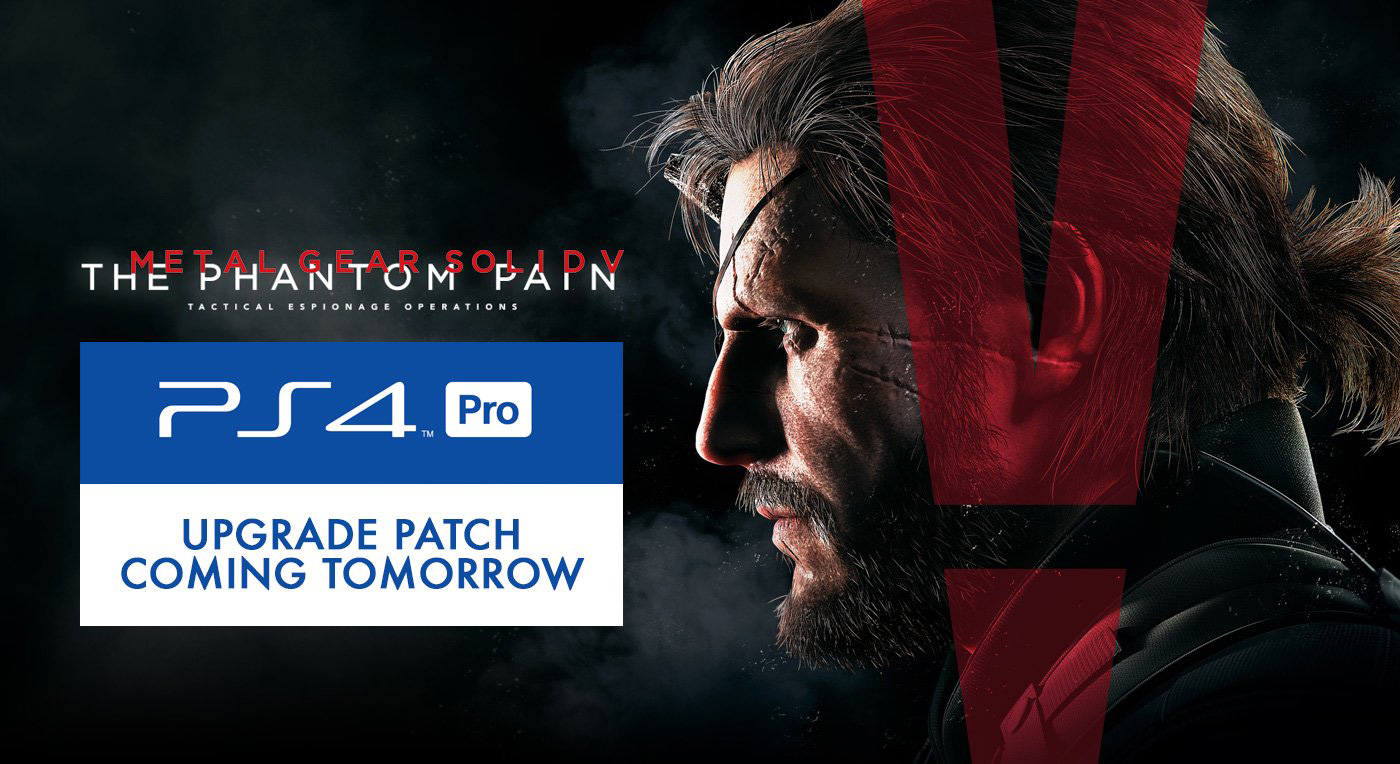 ps4 pro upgrade patch for mgsv the phantom pain available now